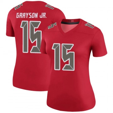 Women's Nike Tampa Bay Buccaneers Cyril Grayson Jr. Red Color Rush Jersey - Legend
