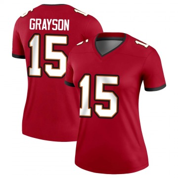 Women's Nike Tampa Bay Buccaneers Cyril Grayson Jr. Red Jersey - Legend