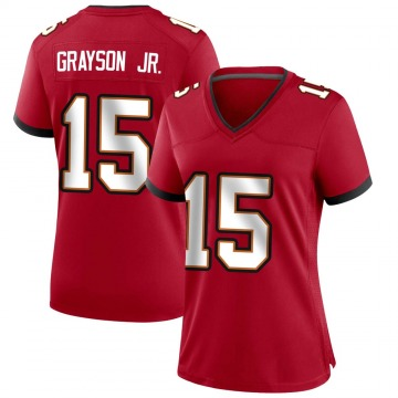 Women's Nike Tampa Bay Buccaneers Cyril Grayson Jr. Red Team Color Jersey - Game
