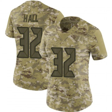 Women's Nike Tampa Bay Buccaneers Deiondre' Hall Camo 2018 Salute to Service Jersey - Limited