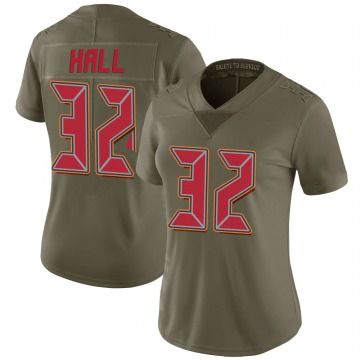Women's Nike Tampa Bay Buccaneers Deiondre' Hall Green 2017 Salute to Service Jersey - Limited