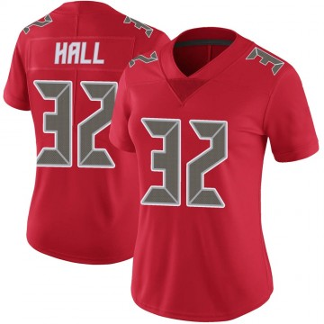 Women's Nike Tampa Bay Buccaneers Deiondre' Hall Red Color Rush Jersey - Limited