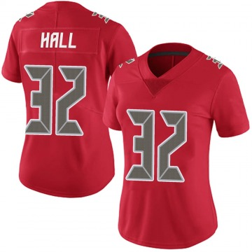 Women's Nike Tampa Bay Buccaneers Deiondre' Hall Red Team Color Vapor Untouchable Jersey - Limited