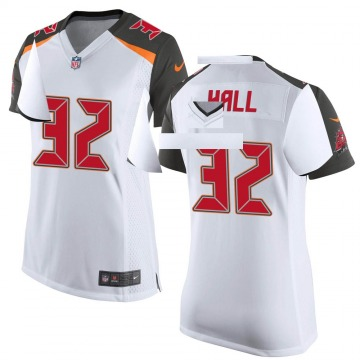 Women's Nike Tampa Bay Buccaneers Deiondre' Hall White Jersey - Game