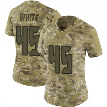 Women's Nike Tampa Bay Buccaneers Devin White White Camo 2018 Salute to Service Jersey - Limited