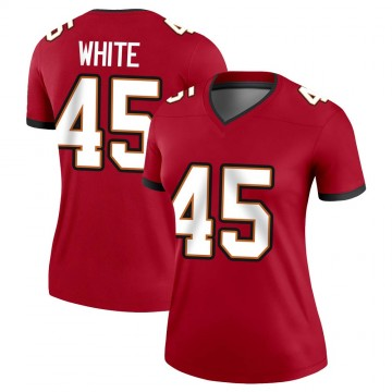 Women's Nike Tampa Bay Buccaneers Devin White White Red Jersey - Legend