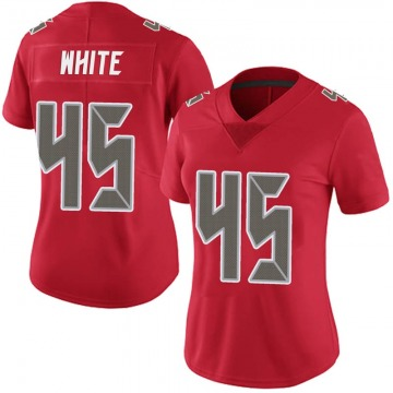 Women's Nike Tampa Bay Buccaneers Devin White White Red Team Color Vapor Untouchable Jersey - Limited