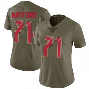 Women's Nike Tampa Bay Buccaneers Earl Watford Green 2017 Salute to Service Jersey - Limited