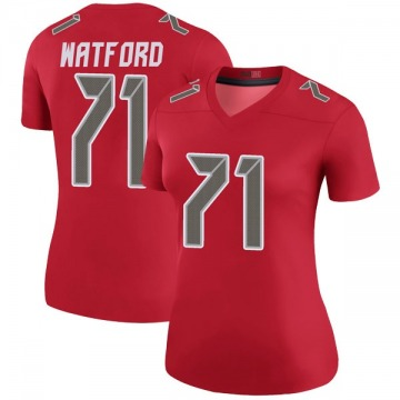 Women's Nike Tampa Bay Buccaneers Earl Watford Red Color Rush Jersey - Legend