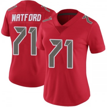Women's Nike Tampa Bay Buccaneers Earl Watford Red Color Rush Jersey - Limited