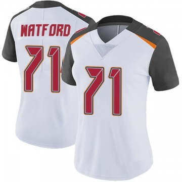 Women's Nike Tampa Bay Buccaneers Earl Watford White Vapor Untouchable Jersey - Limited