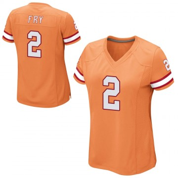 Women's Nike Tampa Bay Buccaneers Elliott Fry Orange Alternate Jersey - Game