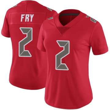 Women's Nike Tampa Bay Buccaneers Elliott Fry Red Color Rush Jersey - Limited