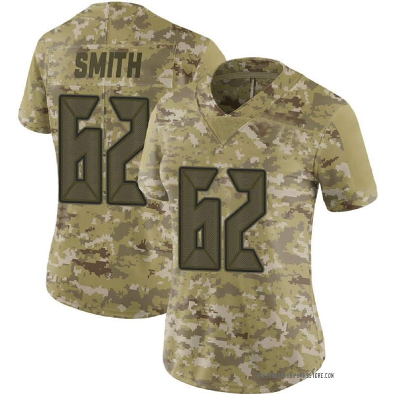 d8bc8389 Women's Nike Tampa Bay Buccaneers Evan Smith Camo 2018 Salute to Service  Jersey - Limited