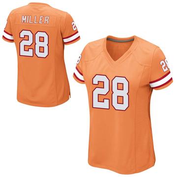 Women's Nike Tampa Bay Buccaneers Herb Miller III Orange Alternate Jersey - Game