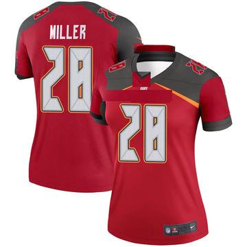 Women's Nike Tampa Bay Buccaneers Herb Miller III Red Jersey - Legend