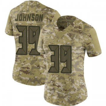 Women's Nike Tampa Bay Buccaneers Isaiah Johnson Camo 2018 Salute to Service Jersey - Limited