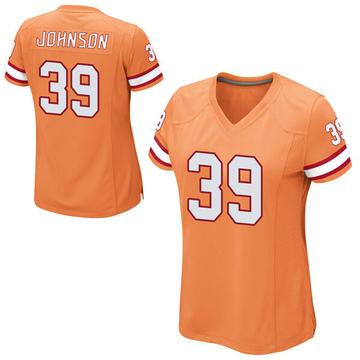 Women's Nike Tampa Bay Buccaneers Isaiah Johnson Orange Alternate Jersey - Game