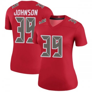 Women's Nike Tampa Bay Buccaneers Isaiah Johnson Red Color Rush Jersey - Legend