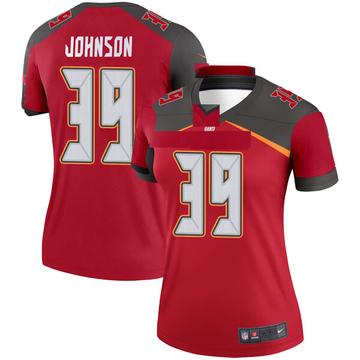 Women's Nike Tampa Bay Buccaneers Isaiah Johnson Red Jersey - Legend