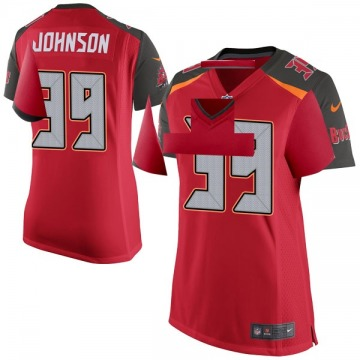 Women's Nike Tampa Bay Buccaneers Isaiah Johnson Red Team Color Jersey - Game