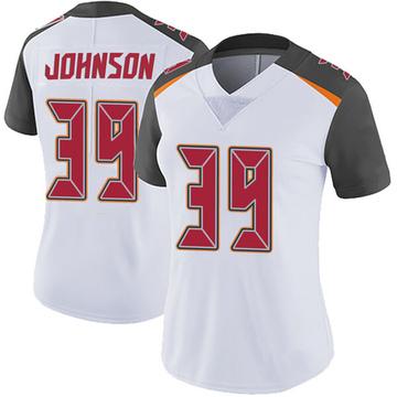 Women's Nike Tampa Bay Buccaneers Isaiah Johnson White Vapor Untouchable Jersey - Limited