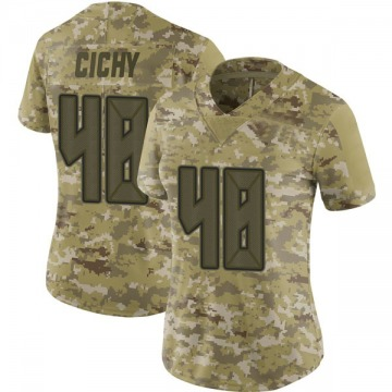 Women's Nike Tampa Bay Buccaneers Jack Cichy Camo 2018 Salute to Service Jersey - Limited
