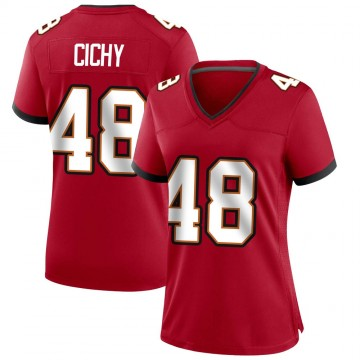 Women's Nike Tampa Bay Buccaneers Jack Cichy Red Team Color Jersey - Game