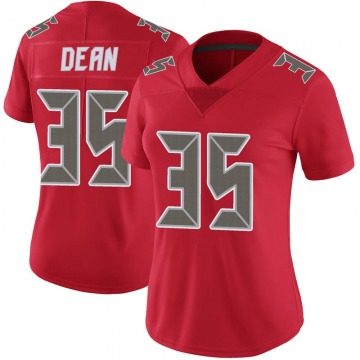 Women's Nike Tampa Bay Buccaneers Jamel Dean Red Color Rush Jersey - Limited