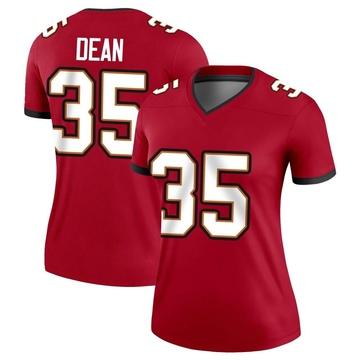 Women's Nike Tampa Bay Buccaneers Jamel Dean Red Jersey - Legend