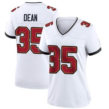 Women's Nike Tampa Bay Buccaneers Jamel Dean White Jersey - Game