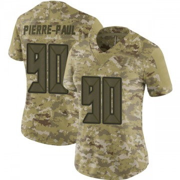 Women's Nike Tampa Bay Buccaneers Jason Pierre-Paul Camo 2018 Salute to Service Jersey - Limited
