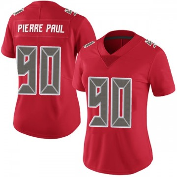 Women's Nike Tampa Bay Buccaneers Jason Pierre-Paul Red Team Color Vapor Untouchable Jersey - Limited