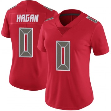 Women's Nike Tampa Bay Buccaneers Javon Hagan Red Color Rush Jersey - Limited