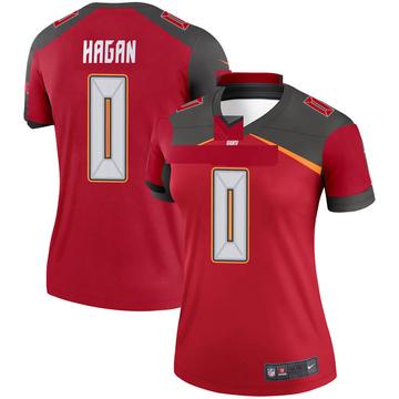 Women's Nike Tampa Bay Buccaneers Javon Hagan Red Jersey - Legend