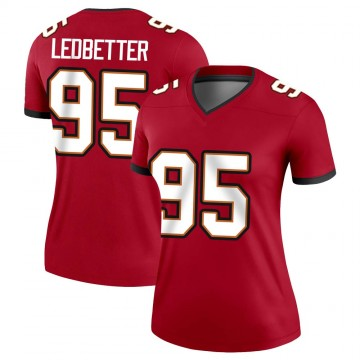 Women's Nike Tampa Bay Buccaneers Jeremiah Ledbetter Red Jersey - Legend