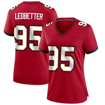 Women's Nike Tampa Bay Buccaneers Jeremiah Ledbetter Red Team Color Jersey - Game