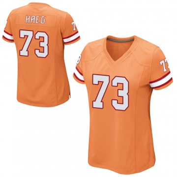 Women's Nike Tampa Bay Buccaneers Joe Haeg Orange Alternate Jersey - Game