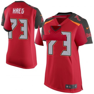 Women's Nike Tampa Bay Buccaneers Joe Haeg Red Team Color Jersey - Game