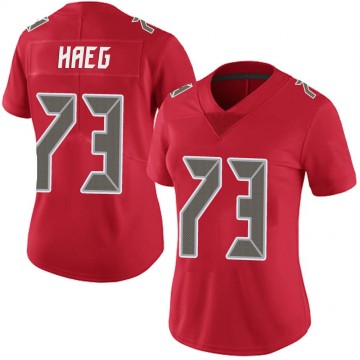 Women's Nike Tampa Bay Buccaneers Joe Haeg Red Team Color Vapor Untouchable Jersey - Limited