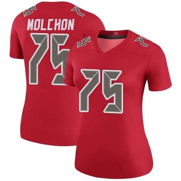 Women's Nike Tampa Bay Buccaneers John Molchon Red Color Rush Jersey - Legend