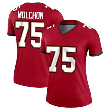 Women's Nike Tampa Bay Buccaneers John Molchon Red Jersey - Legend