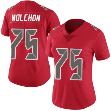 Women's Nike Tampa Bay Buccaneers John Molchon Red Team Color Vapor Untouchable Jersey - Limited