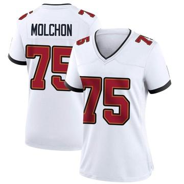 Women's Nike Tampa Bay Buccaneers John Molchon White Jersey - Game