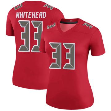 Women's Nike Tampa Bay Buccaneers Jordan Whitehead White Color Rush Red Jersey - Legend