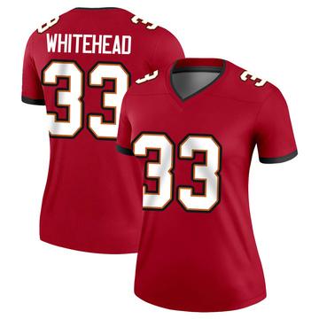 Women's Nike Tampa Bay Buccaneers Jordan Whitehead White Red Jersey - Legend