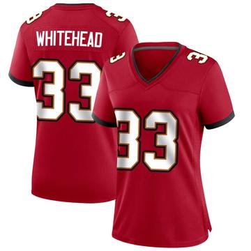 Women's Nike Tampa Bay Buccaneers Jordan Whitehead White Red Team Color Jersey - Game