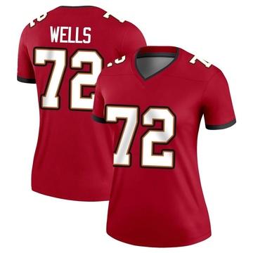 Women's Nike Tampa Bay Buccaneers Josh Wells Red Jersey - Legend