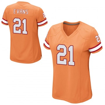 Women's Nike Tampa Bay Buccaneers Justin Evans Orange Alternate Jersey - Game