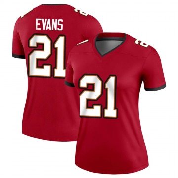 Women's Nike Tampa Bay Buccaneers Justin Evans Red Jersey - Legend